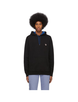Black Zebra Hoodie by Ps By Paul Smith