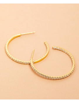 Demi Fine Crystal Hoop Earrings by Brooks Brothers
