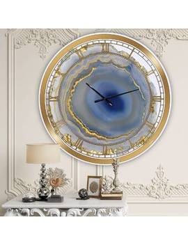 Oversized Water Agate Fashion Wall Clock by East Urban Home