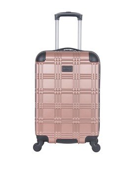 "20"" Nottingham Embossed Abs 4 Wheel Carry On Luggage by Ben Sherman"