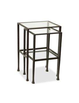 Tanner Nesting End Tables, Matte Iron Bronze by Pottery Barn