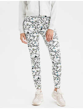 Aeo Super High Waisted Snoopy Velvet Legging by American Eagle Outfitters