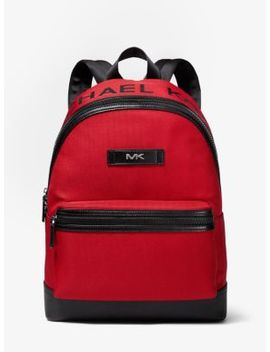 Logo Woven Backpack by Michael Kors Mens