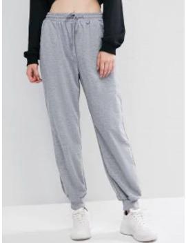 Hot Sale Lounge Waist Drawstring Pockets Jogger Pants   Gray M by Zaful
