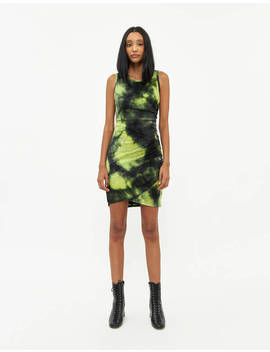 Kate Tie Dye Dress In Lime / Black by Which We Want Which We Want