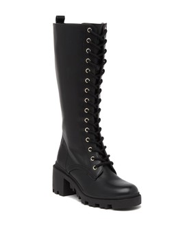 Dorina Lace Up High Boot by Madden Girl