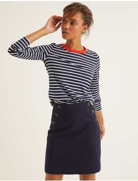 Crew Neck Breton   Navy/Ivory by Boden