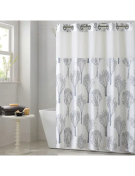 Hookless Modern Tree Shower Curtain With Liner by Hookless
