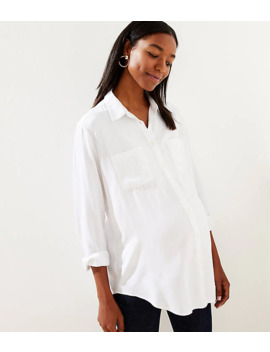 Maternity Button Down Tunic Shirt by Loft