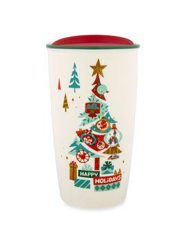 Disney Parks Happy Holidays Starbucks Ceramic Travel Tumbler | Shop Disney by Disney