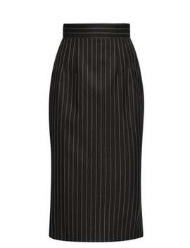 Pinstriped Twill Pencil Skirt by Dolce & Gabbana