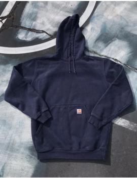 Vintage Carhartt Hoodie Sweatshirt Mens Medium Navy Blue 90s by Vintage  ×  Carhartt  ×