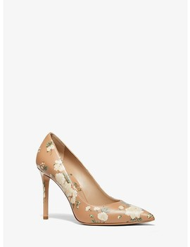 Gretel Floral Calf Leather Pump by Michael Kors Collection
