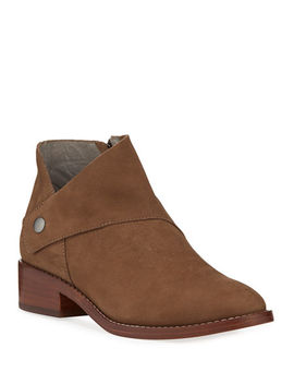 Billie Wrapped Nubuck Booties by Eileen Fisher