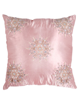 Pink Shimmer Snowflake Softline Pillow By Ashland® by Ashland
