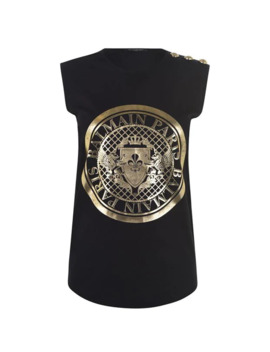 Coin 3 Button T Shirt by Balmain