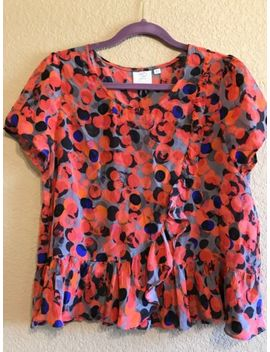 Hd In Paris Anthropologie 100% Silk Blouse Womens 8 by Hd In Paris