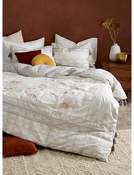 Embroidered Oasis Duvet Cover Set by Kas Australia