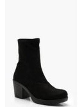 Cleated Sock Ankle Boots Cleated Sock Ankle Boots by Boohoo