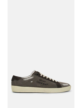 Men's Sl/06 Canvas &Amp; Suede Sneakers by Saint Laurent