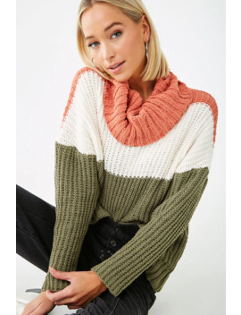 Chenille Colorblock Sweater by Forever 21