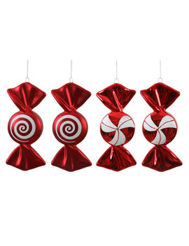 Vickerman 4 Piece Candy Ornament Set by Vickerman Co.