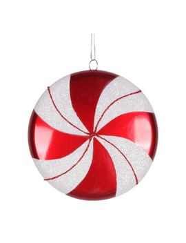 "Vickerman 6"" Swirl Flat Candy Christmas Ornament, Red by Vickerman"