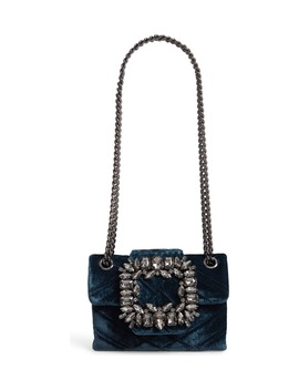 Mini Mayfair Velvet Crossbody Bag by Kurt Geiger London