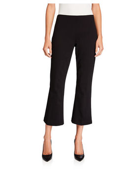 Neiman Marcus Cropped Ponte Flare Pant by Neiman Marcus