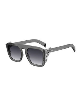 Square Optyl Sunglasses W/ Crystal F Temples by Fendi