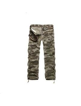 Mens Outdoor Camouflage Military Army Cargo Combat Pants Straight Trousers Baggy by Unbranded