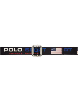 Navy Webbing Polo Sport Belt by Polo Ralph Lauren