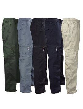Men Pants Man Stretchy Summer Cargo Combat 7 Pockets Lightweight Work Pants by Canis