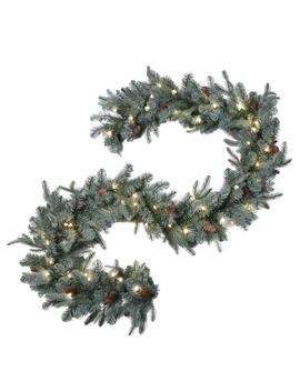 9 Ft. Feel Real Alaskan Spruce Artificial Garland With Pinecones And 50 Clear Lights by Home Accents Holiday