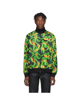 Black Fire Dollar All Over Track Jacket by Sss World Corp