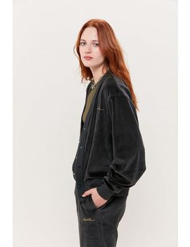 Lacoste Velour Button Front Cardigan by Lacoste