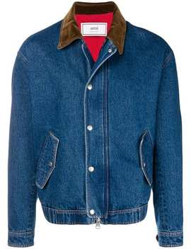 Zipped Denim Jacket by Ami Paris