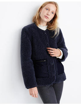 Sherpa Snap Jacket by Madewell