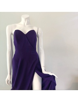 Vintage 1980's Strapless Purple Hourglass Gown by Vintage