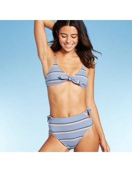 """<Span><Span>Women's Ribbed Tie Front Triangle Bikini Top   Xhilaration Blue Stripe</Span></Span><Span Style=""""Position: Fixed; Visibility: Hidden; Top: 0px; Left: 0px;"""">…</Span> by Xhilaration Blue Stripe…"""