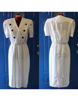 Vintage Double Dressed Look Dress 80s Does 50s by Vintage