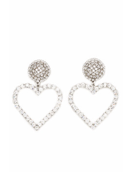Crystal Heart Earrings by Alessandra Rich