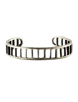 Bfcm Yardsale   Super Cheap   Silver Mens Bracelet Cuff Oxidized Bars Bangle Jewellery by Etsy