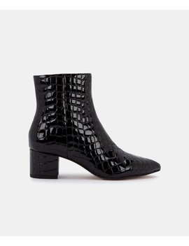 Bel Booties In Midnight Crocobel Booties In Midnight Croco by Dolce Vita