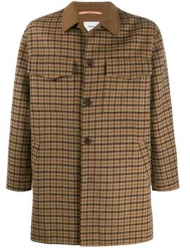 Houndstooth Overshirt Jacket by Nanushka
