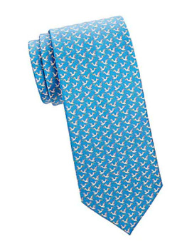 Seagull Silk Tie by Salvatore Ferragamo