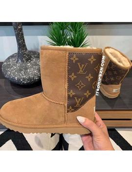 Reworked Lv Louis Vuitton Ugg Boots For Winter Gift by Etsy