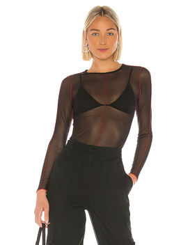 Abilene Sheer Long Sleeve Top by Superdown
