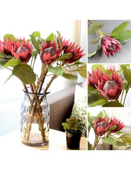 1 Pc King Protea Artificial Flower Fake Plant Diy Wedding Bouquet Party Faux King Protea Realistic Party  Hotels Guesthouse Decor by Ali Express.Com