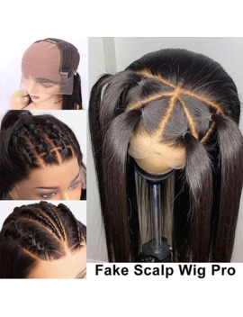 Lace Front Human Hair Wigs Fake Scalp Wig Straight For Black Women Pre Plucked With Baby Hair 13x6 Remy 130 180 Density Firstwig by Ali Express.Com